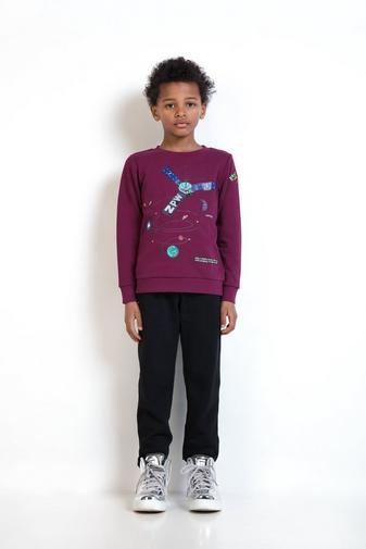 Purperen sweater